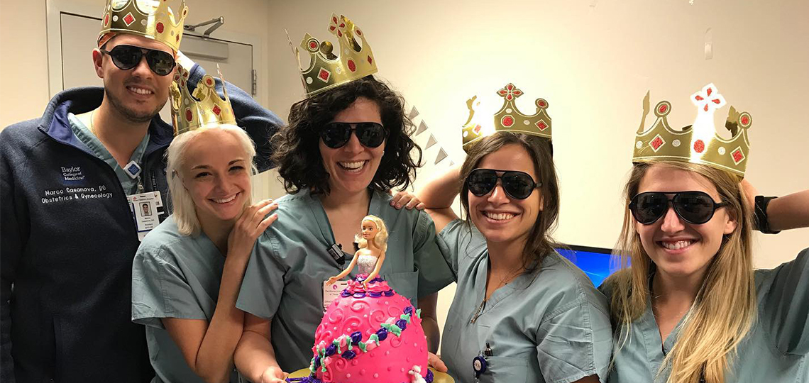 Obgyn Residents with cake