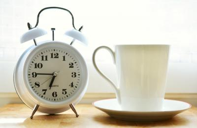 Clock with cup