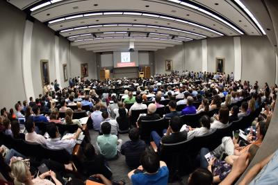 It was a packed house in Cullen Auditorium to hear Dr. Bert Vogelstein discuss the past, present and future of the war on cancer.