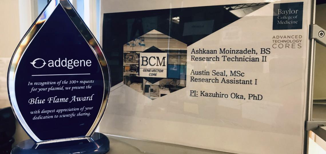 Addgene Blue Flame Award