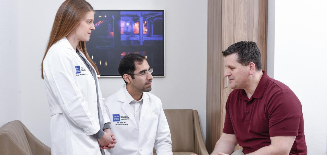 Colorectal Surgeons with Patient