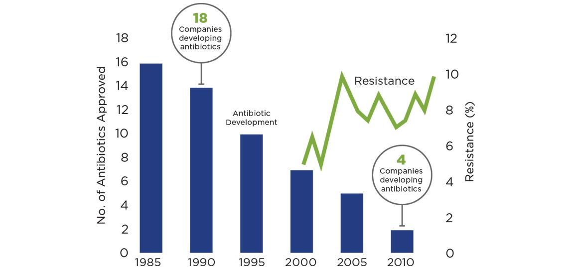 antibiotic to market graph