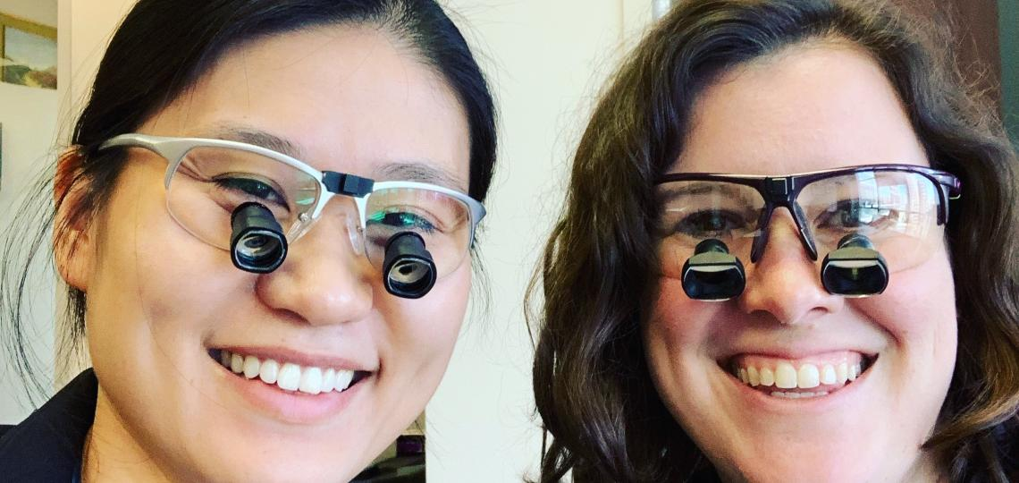 Pediatric and Adolescent Gynecology fellows modeling their loupes.