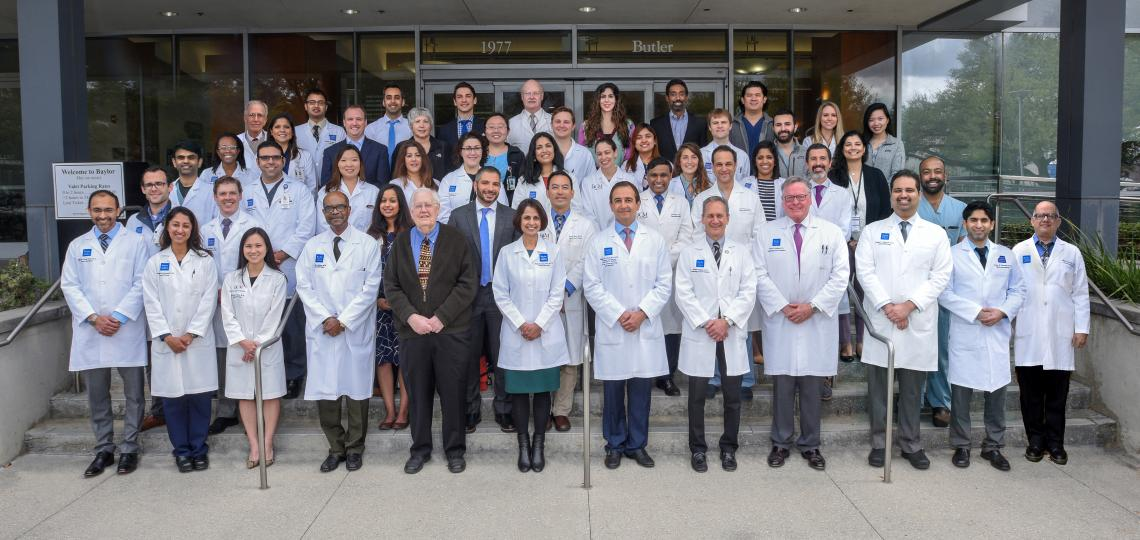 Group photo of the faculty and fellows in the Gastroenterology Fellowship program.
