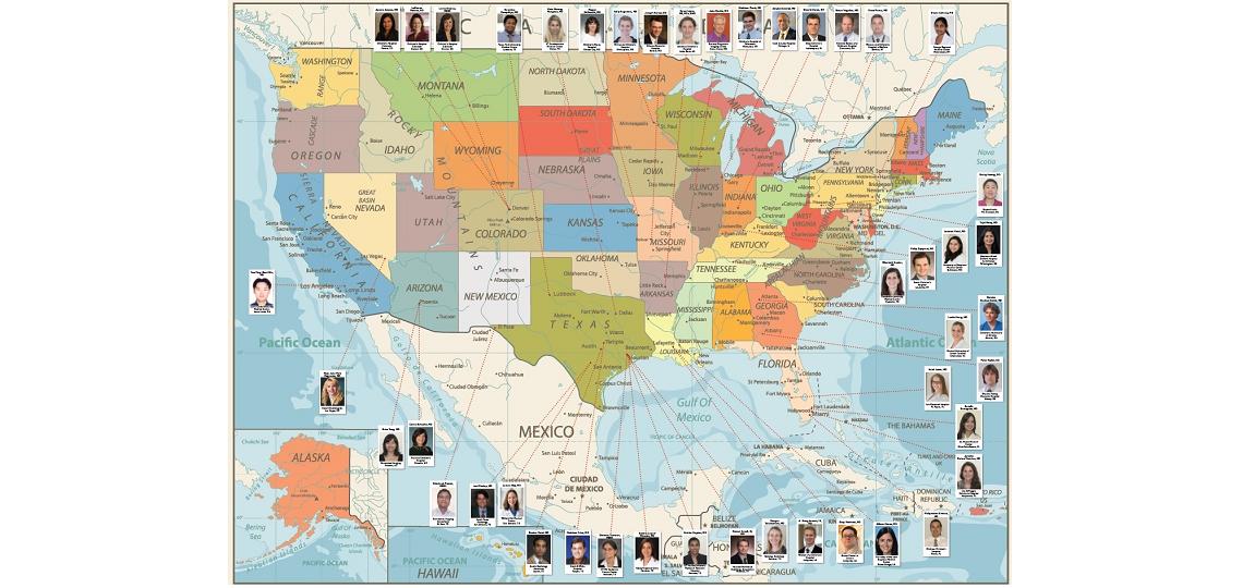 Pediatric Radiology Fellow Graduate Map