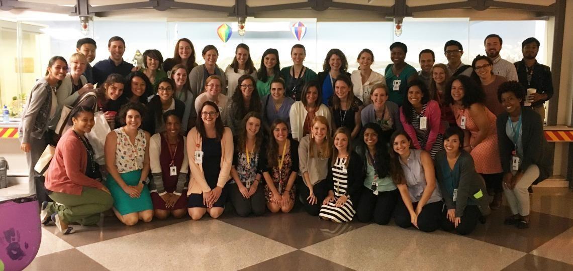 Group photo of the members of the Pediatric Residency Program's Societies