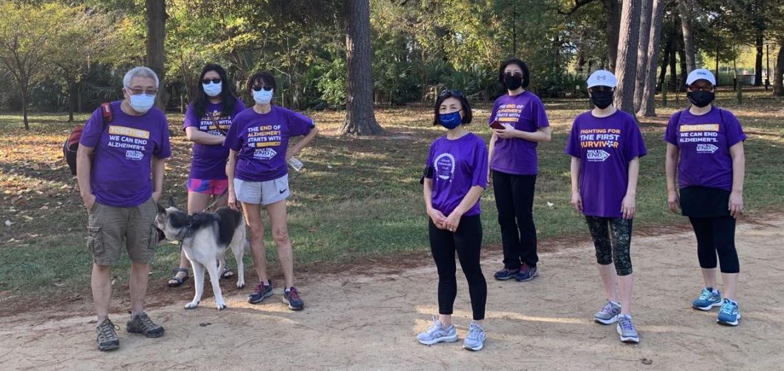 Alzheimer's Walk to the Huffington Center