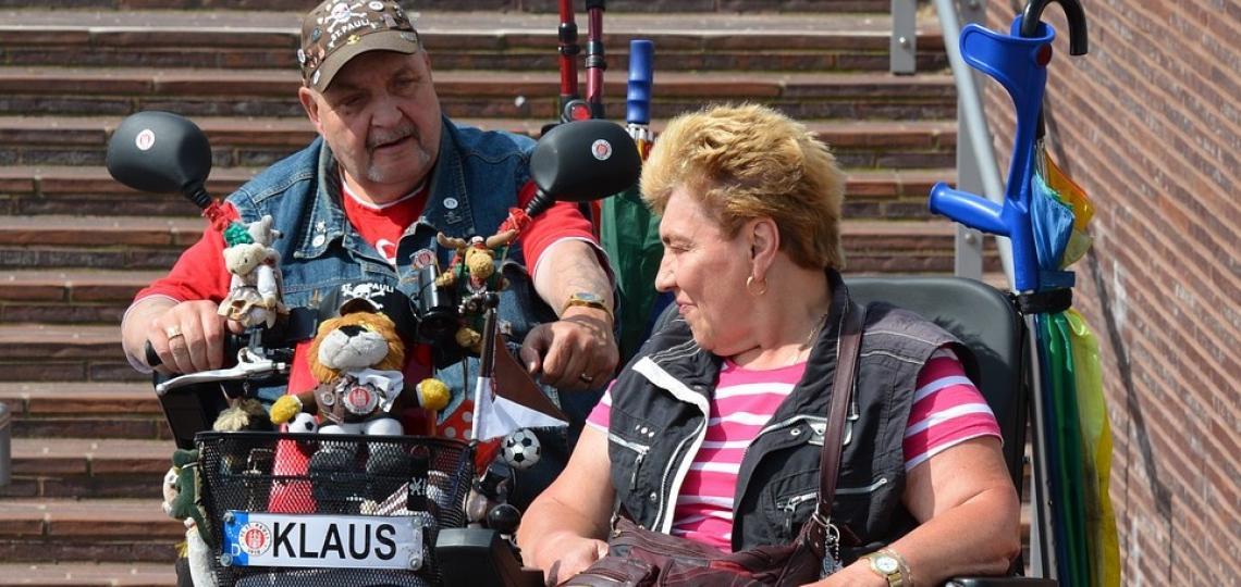 Couple in a wheelchair