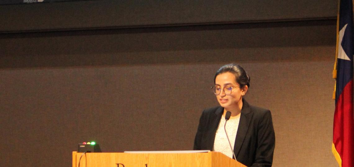 Deeksha Bidare presenting