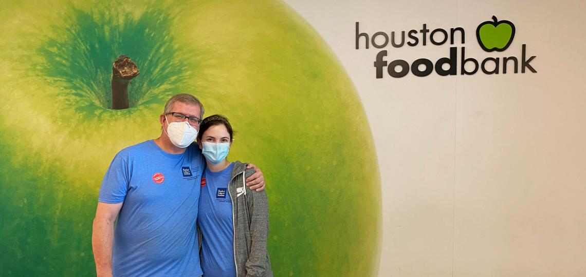 APPs volunteering at the Houston Food Bank