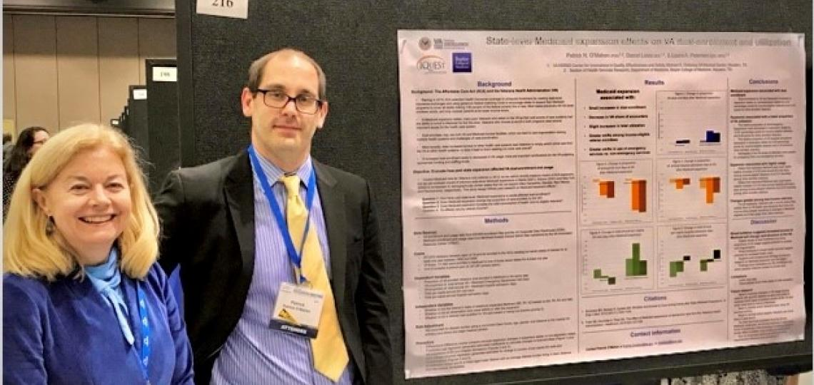 Health Services Research presenting poster