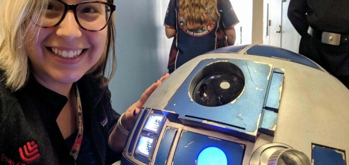 R2-D2 was star-struck meeting an NDD fellow, princess Leah.