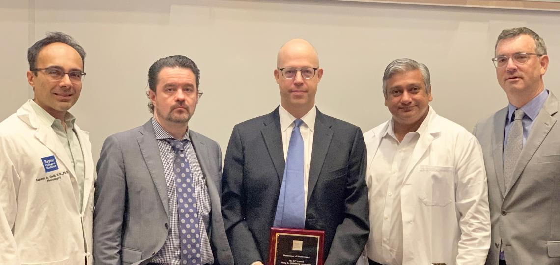 Dr. Andre Machado, Chair of the Cleveland Clinic Neurological Institute, served as the 12th Baylor College of Medicine Gildenberg Lecturer in Stereotactic and Functional Neurosurgery.