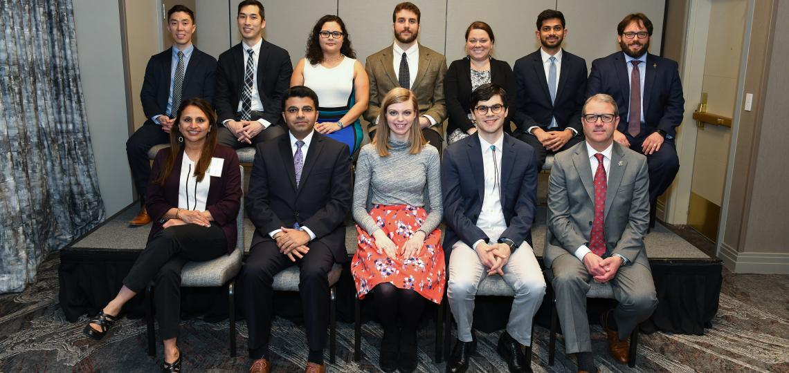 Resident and Fellow inductees into Texas Beta Chapter of Alpha Omega Alpha Honor Medical Society