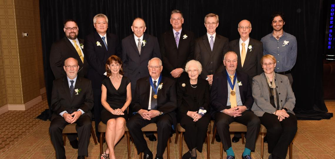 The prestigious alumni awards were presented by Dr. Paul Klotman, president, CEO and executive dean of Baylor College of Medicine, and alumni association president Dr. Dennis O'Brien '06.