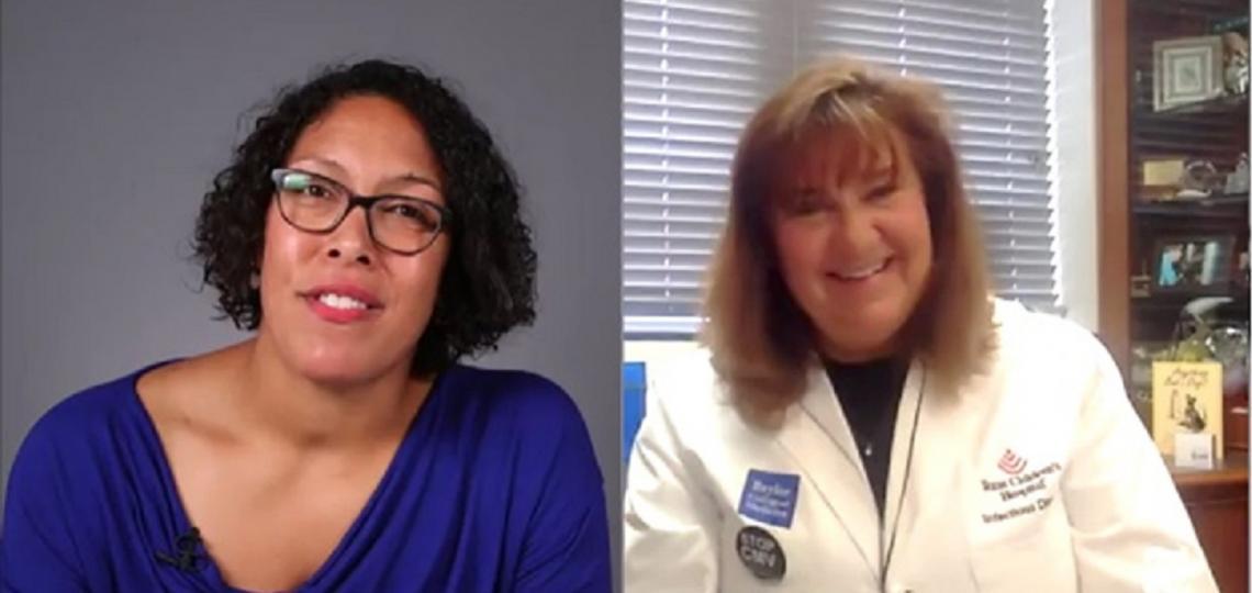 The New York Times interviews Dr. Gail Demmler Harrison for Facebook live stream.