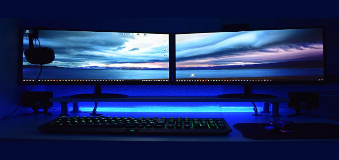 Dark computer screen