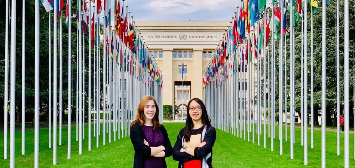 Rachel W. Davis, M.D. and Megan T. Vu, M.D. at the UN.