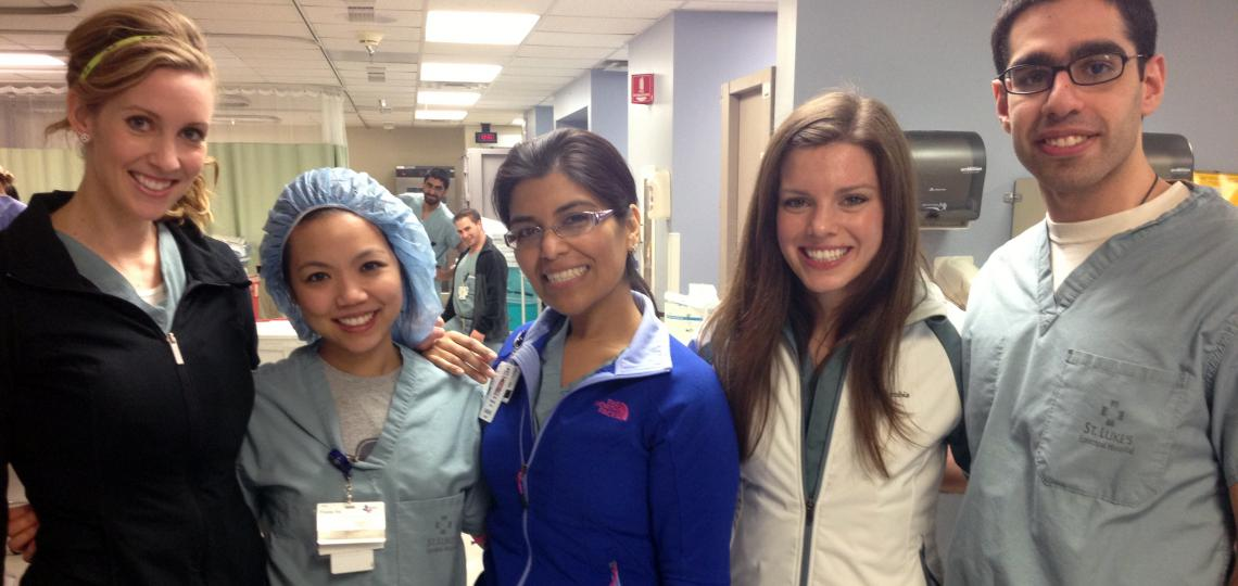 Plastic, general, and critical care residents.