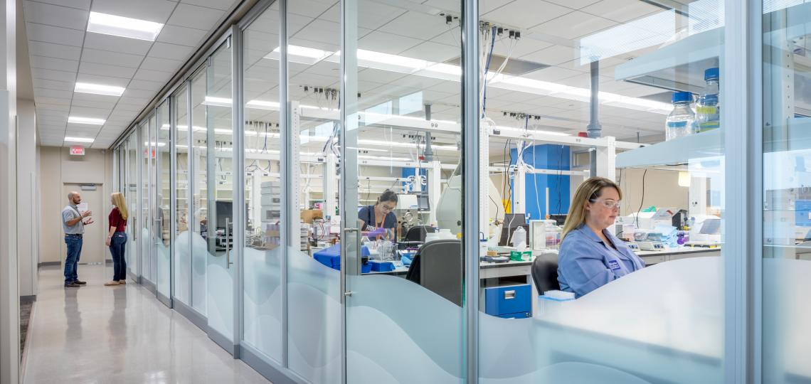 DNA-encoded chemical library synthesis laboratory at the CDD