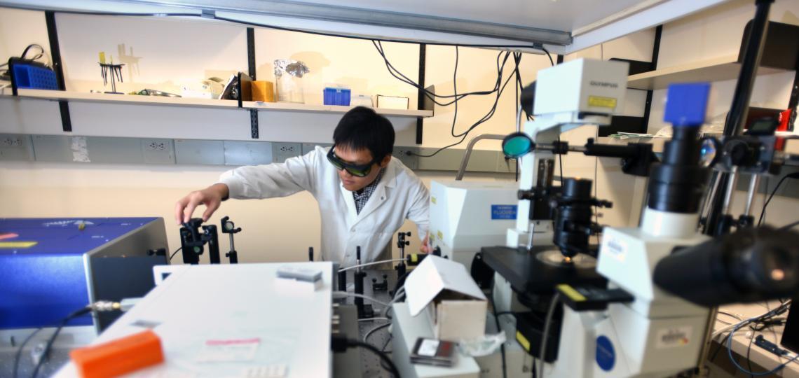 Postdoctoral Associate Yong Yu in Dr. Meng Wang's laboratory.