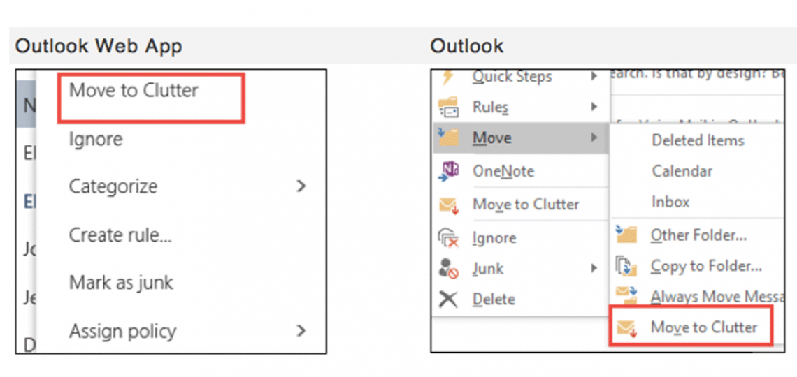 You can train Clutter by marking items as Clutter or simply moving the items to the Clutter folder.