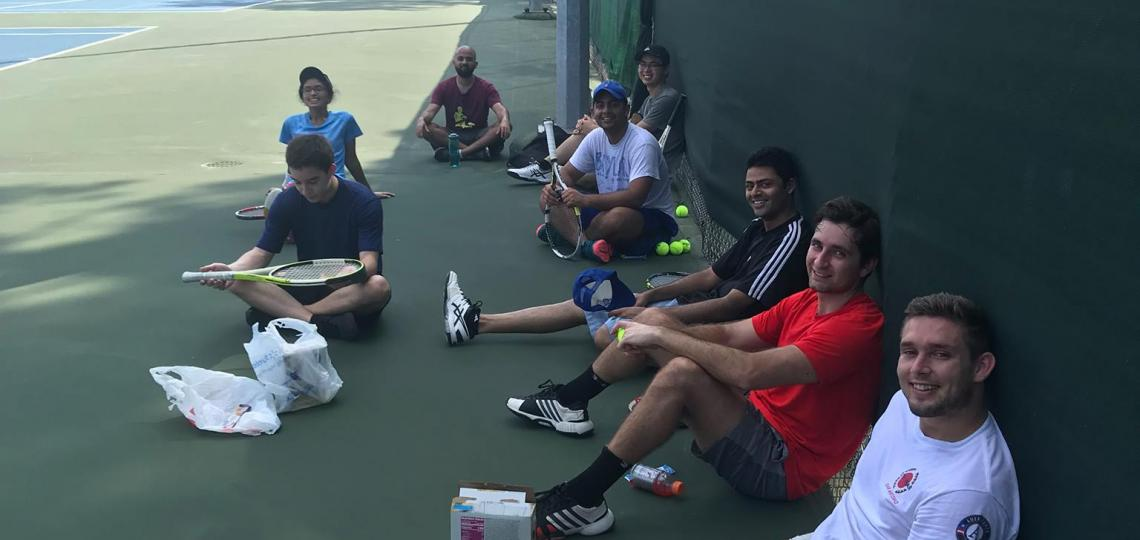 Student Tennis Club at Baylor College of Medicine.