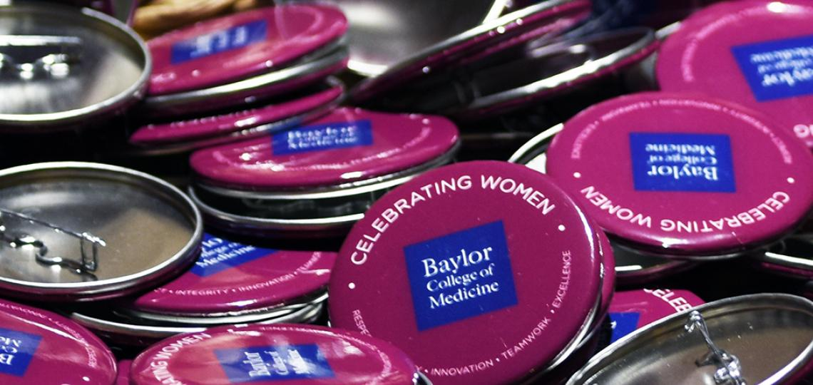 Women's History Month buttons.