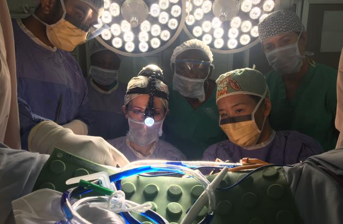 Global Women's Health track residents attending surgery training.