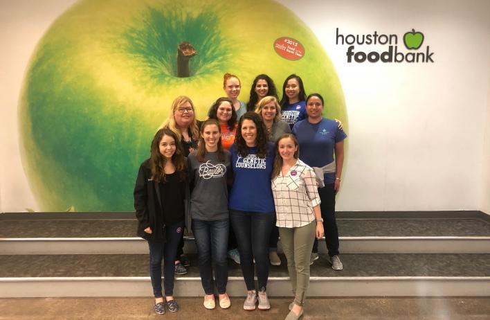 Genetic Counseling foodbank mentors and mentees