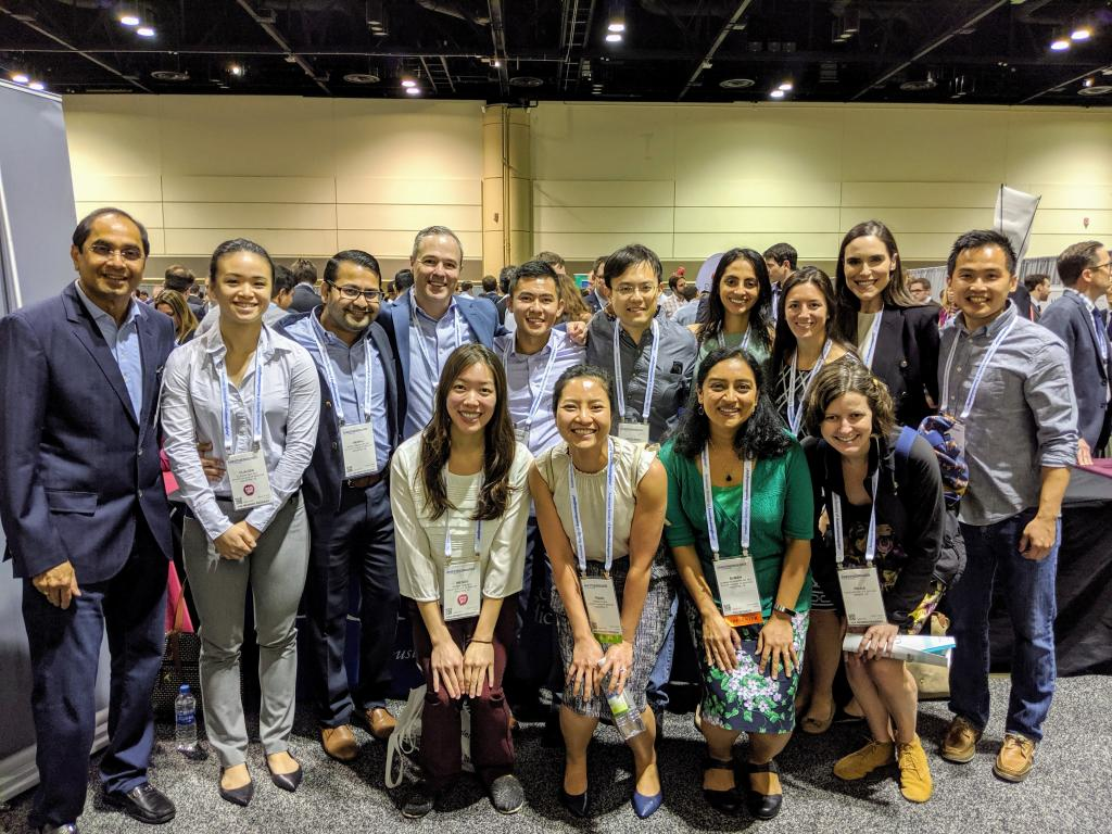 Some residents and attendings at the 2019 ASA meeting.