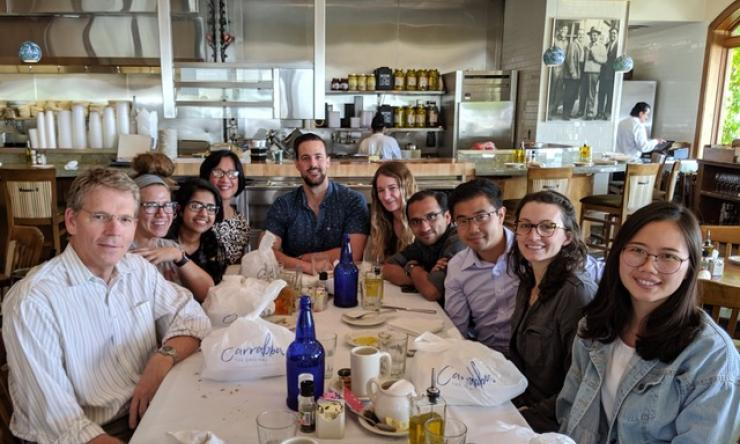 A farwell lunch to celebrate Paul Pang's accomplishments and bon voyage to Stanford.