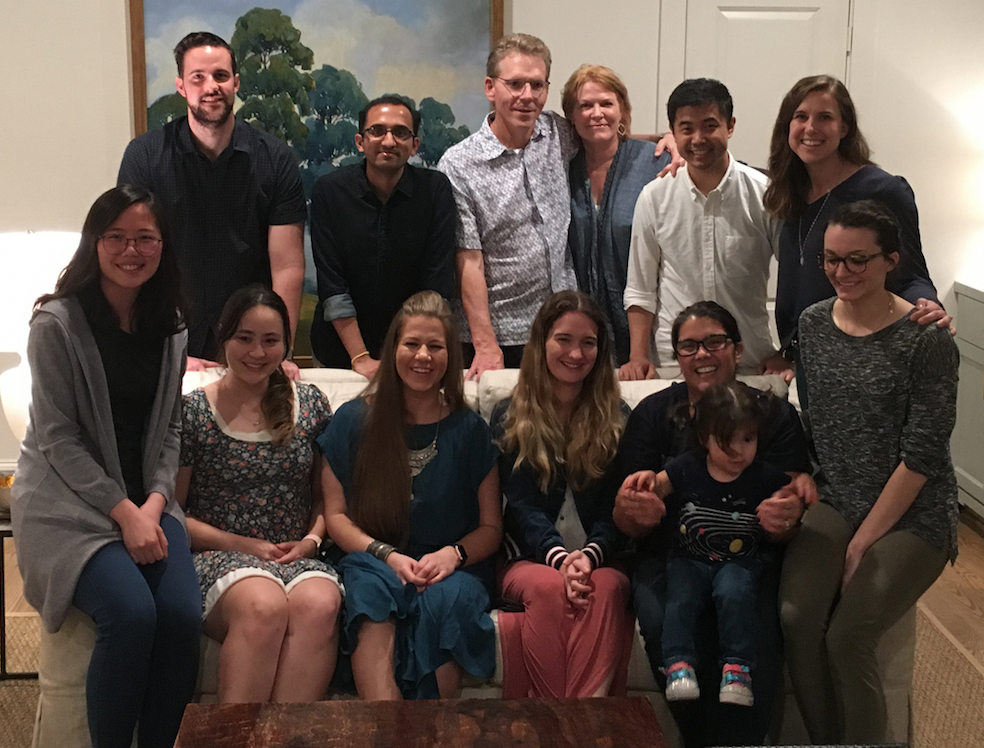 House Party and Lab party at Tom's house to wish Jen and Ginny well and welcome Matt and Sara, May 2019
