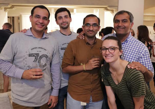 Cooper lab members celebrating at the reunion celebration.
