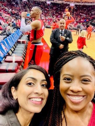 Dermatology residents at a basketball game