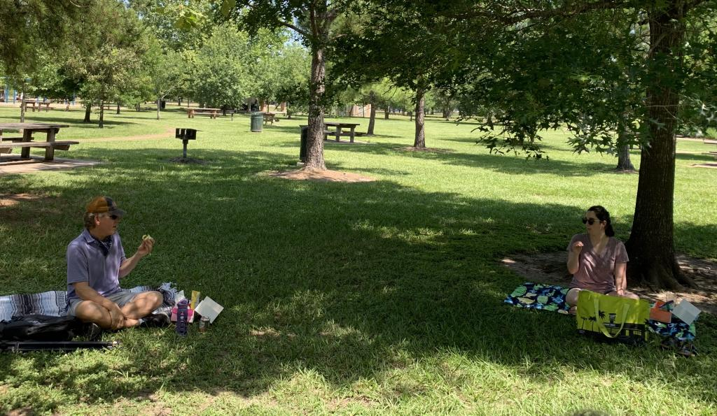 Social distancing is easy in the wide open space of Texas!