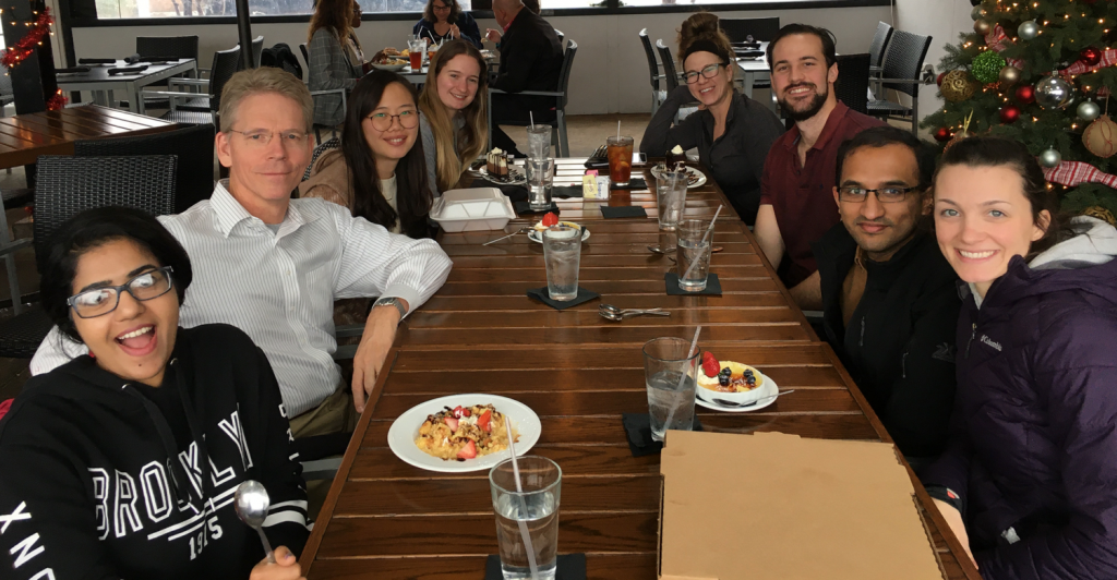 Farewell lunch for Riya Thomas as she is off to grad school. Congratulations and please come back to visit.