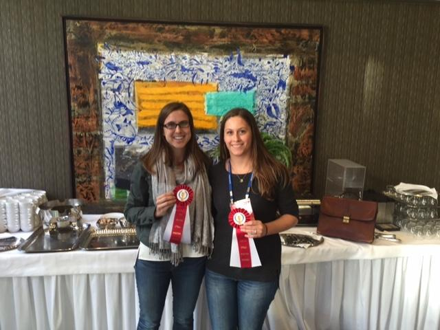 Kassie Manning and Amy Brinegar won poster awards at the Oligonucleotide Therapeutics Society meeting in Montreal, Quebec, Canada.