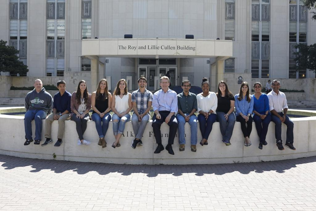 The Cooper Lab on the Alkek Fountain at Baylor College of Medicine, 2016.