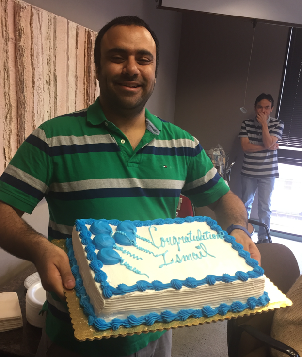 Ismail's party to celebrate his acceptance into a residency program.
