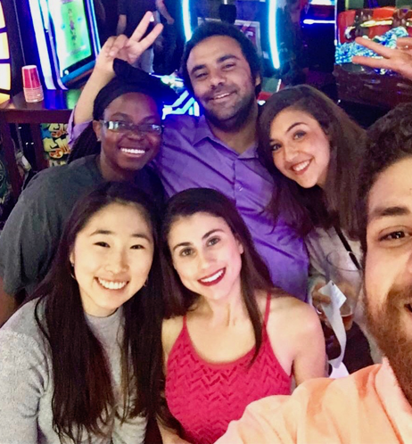 A lab trip to Dave and Busters Entertainment Center.