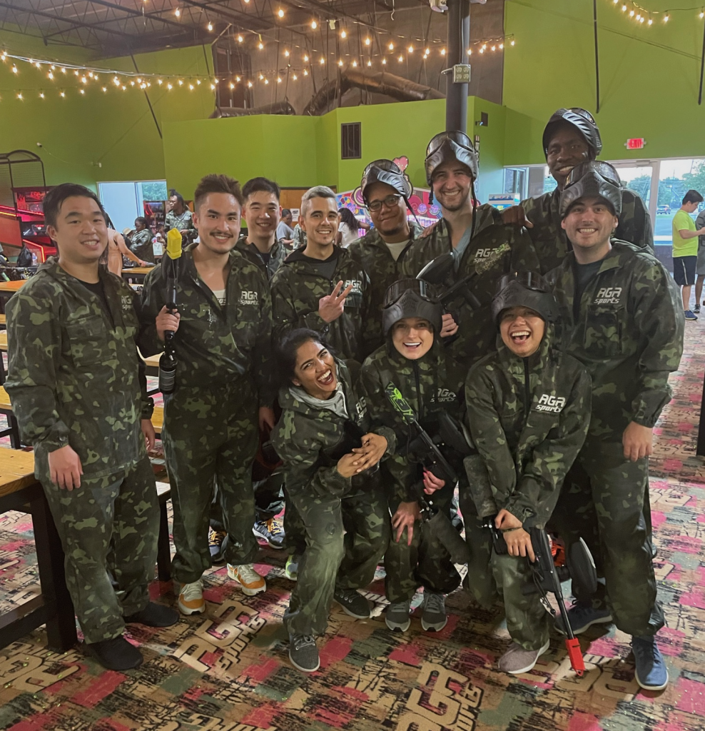 Another successful resident wellness event getting messy at PaintBall.