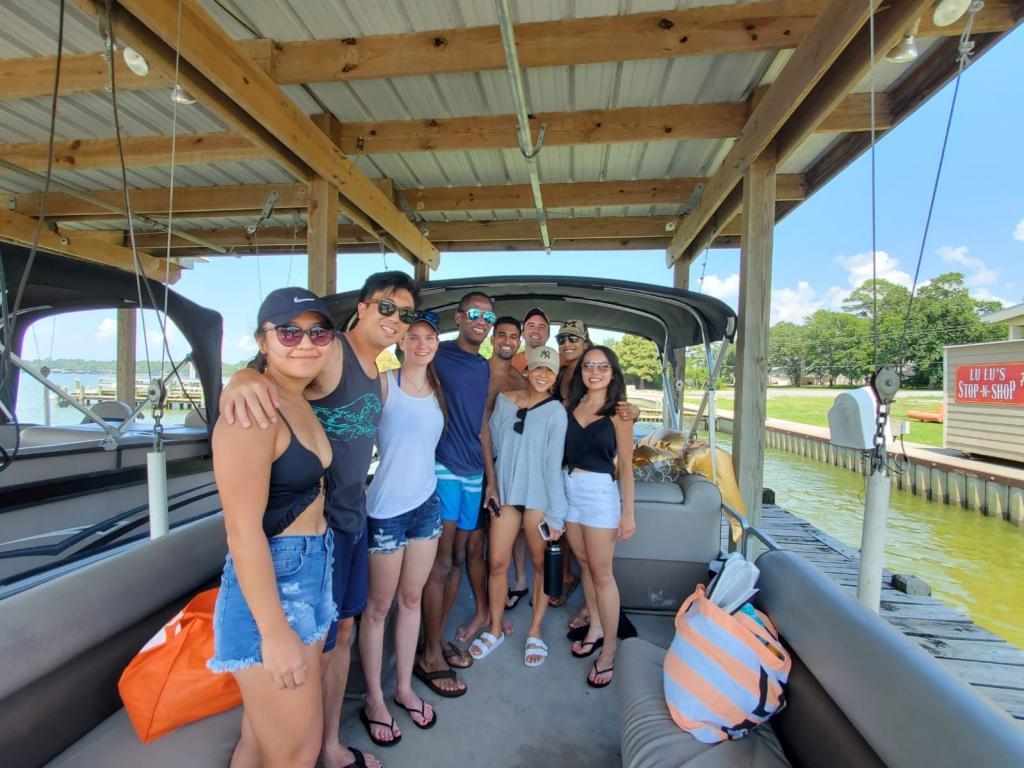Summer weekend days at lake Livingston in Houston.