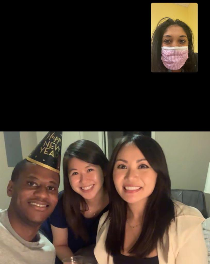 Bringing in the new year with the ICU call resident!