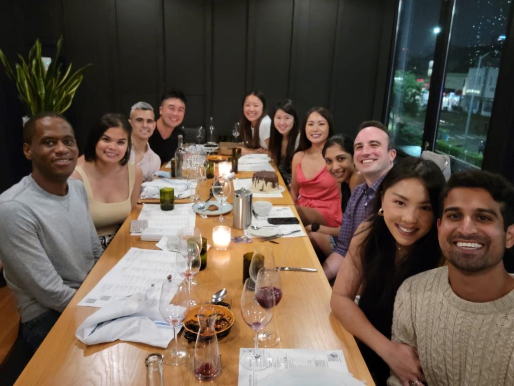 Celebrating resident Kim Tran's birthday at Sixty Vines.