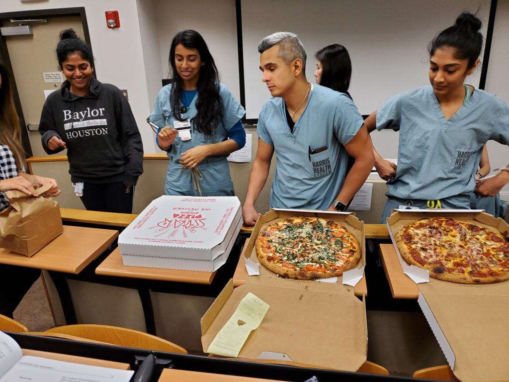 CA-1 lecture made even better with pizza from Dr. Sutton!