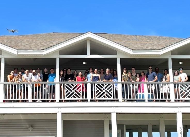 Residents & faculty gathered at the Program Director's beach house in Galveston, TX. This is an exciting annual event for the R4s, who then get to mingle with both faculty and new R1 residents.