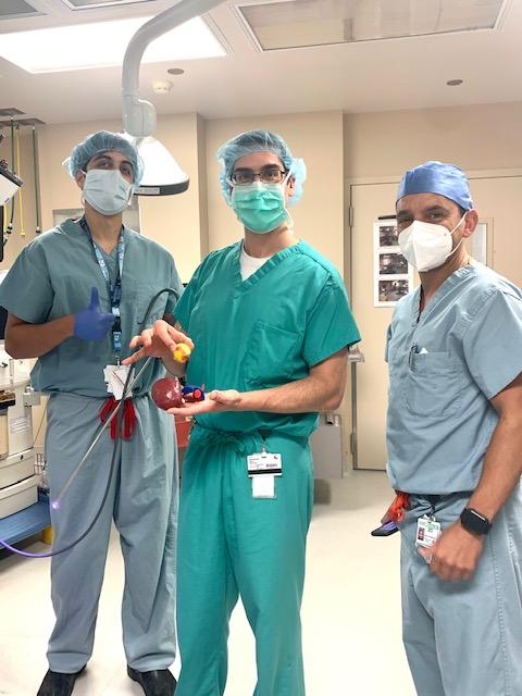 Dr. Wes Mayer and residents demonstrate robotic partial nephrectomy using 3D modelling technology.