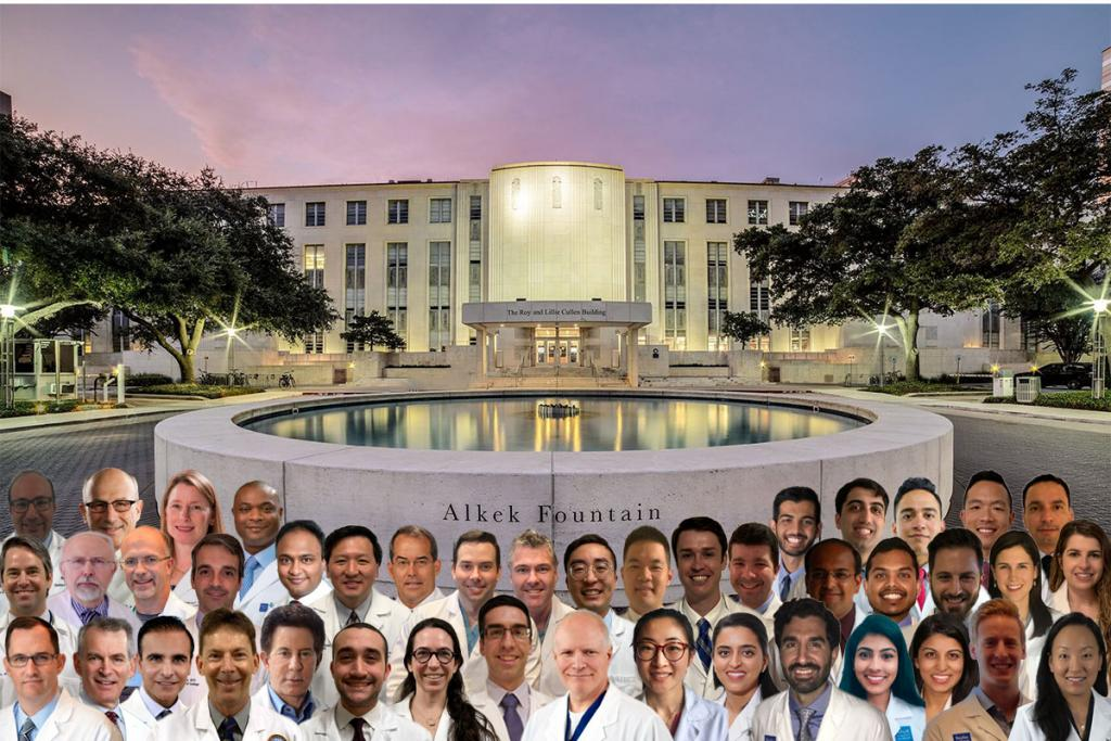 The entire Scott Department of Urology 2021 comes together while staying socially distanced for a department photo.
