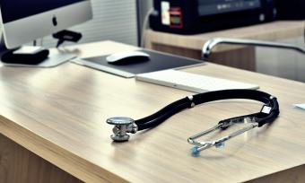 Stethoscope in doctor's office